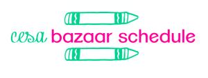 Cesa bazaar schedule